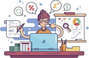 woman bookkeeper illustration