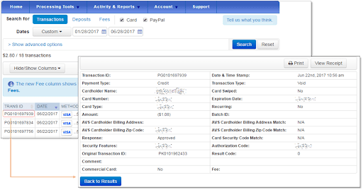 Quickbooks Payments Post Setup Screenshot