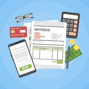 Invoice Form on Laptop Screen